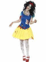 Zombie Snow White Costume, Halloween Zombie Alley Fancy Dress, UK Size 4-6 - $60.68
