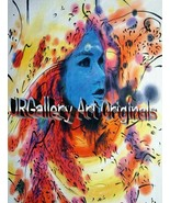 """V. Cleigton-""""Feeling Blue""""-Original Oil Painting/ Canvas 36""""x 48"""", Hand ... - $356.25"""