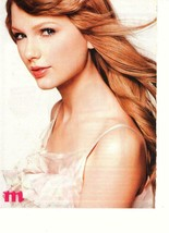 Taylor Swift teen magazine pinup clipping close up M magazine white dress - $1.50