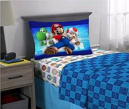 Jay Franco & Sons Super Mario 3 Piece Twin Size Microfiber Sheet Set - $39.99