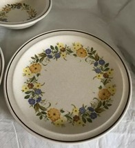 Nikko China Buttercup Pattern 2 Dinner Plates / 1 Soup Bowl Stoneware Unused image 2
