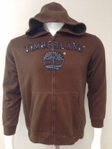 Timberland Full Zip Jacket Hoodie Youth Size Large 16-18 Brown Front Poc... - $14.70