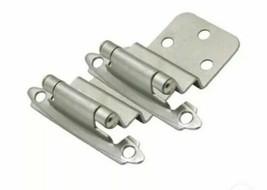 10 Packs Of 2 Cosmas Cabinet Hinges Satin Nickel 3/8 Inset 17128-SN (20 ... - $12.95