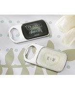 Personalized Chalk or Woodgrain Epoxy Metal Bottle Opener Bridal Wedding... - €82,51 EUR+