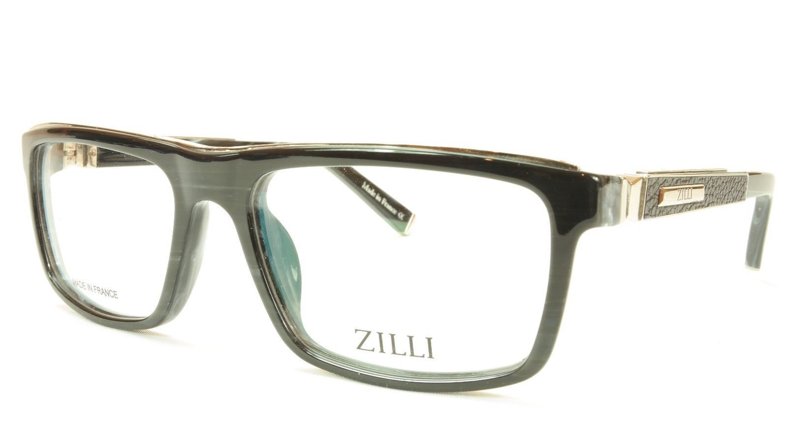 a8feacad711 S l1600. S l1600. Previous. ZILLI Eyeglasses Frame Acetate Leather Titanium  France Hand Made ZI 60002 C02