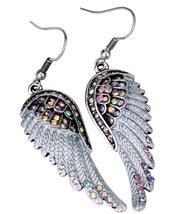 Women's Angel Wing Cross Necklace Earrings Bracelet Set image 5