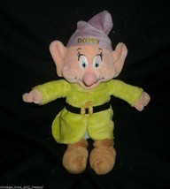 "10"" DOPEY SNOW WHITE AND THE 7 DWARFS STUFFED ANIMAL PLUSH TOY DISNEY SO... - $14.03"