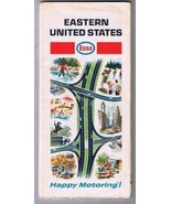 Esso Eastern United States Road Map 1968 Humble Oil - $7.28
