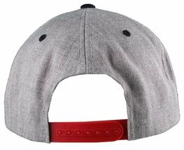 Yea Nice # Funtimes Men's Gry-Blk-Red Embroidered O/S Snapback Baseball Cap NWT image 6
