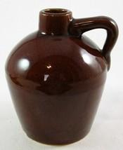 "Vintage The Roycroft Shops East Aurora NY Small 5-1/8"" Dark Brown Jug - $16.99"