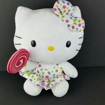 "Ty Hello Kitty Plush Polka Dot Dress Bow 11"" Stuffed Animal Sanrio Lolli... - $20.78"