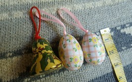 Lot 3 Christmas Easter Ornaments • Paper Mache Old World • Pre-owned • N... - $7.87