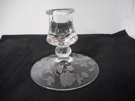 Heisey Rose Etched Single Candleholder - $12.00