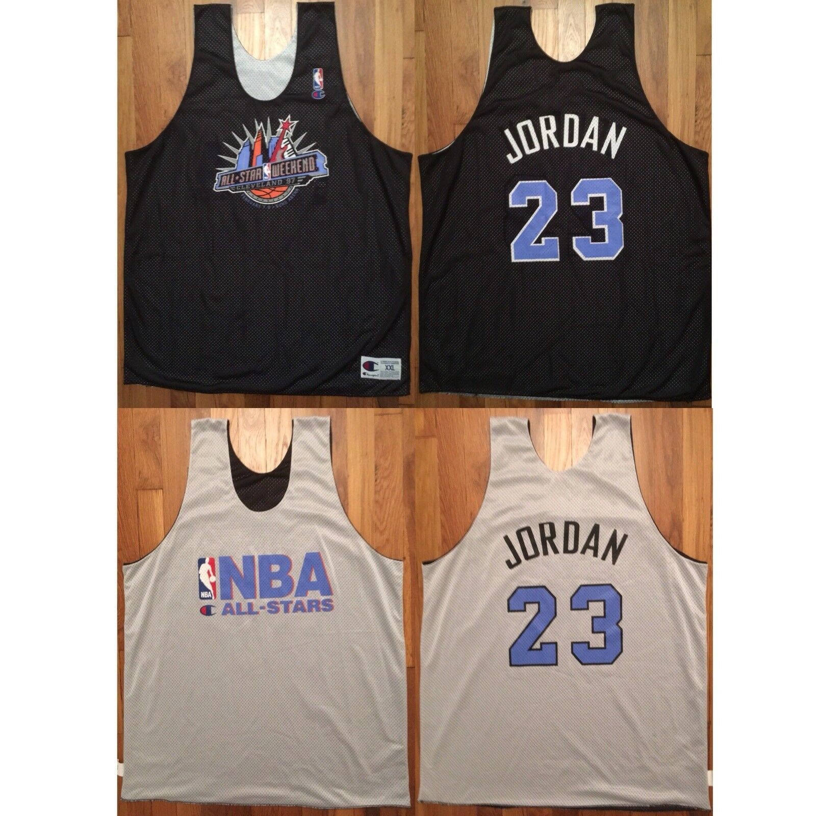 Primary image for 1997 NBA All-Star Chicago Bulls Michael Jordan Reversible Practice Jersey XXL