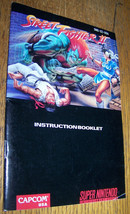 1991 Vintage Super Nintendo Nes Street Fighter Ii Instruction Manual Book - $4.94