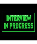 120174B Interview in Progress Reminder Career Courtesy Guests LED Light ... - $18.00