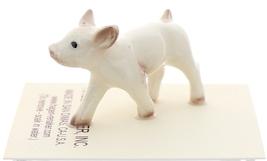 Hagen-Renaker Miniature Ceramic Pig Figurine White Baby Piglet image 2