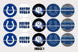 Printed Precut INDIANAPOLIS COLTS inspired 1 inch images for bottlecaps,... - $2.00