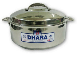 2500 ML STAINLESS STEEL INSULATED HOTPOT CASSEROLE ROTI FOOD STORAGE CAN... - $46.55
