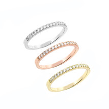 Sterling Silver 14k Yellow Rose & White Gold Set of 3 Set Wedding Band Ring - £11.07 GBP+