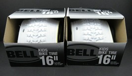 """1 Pair Of Bell Kids Bike Tire White 16"""" x 2.125"""" Replaces 1.75""""-2.125"""" - 2 TIRES - $27.83"""
