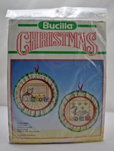 "Bucilla Christmas ""Samplers"" Hoop Pair Counted Cross Stitch Kit - 5"" Round - $18.95"
