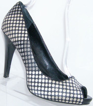 dot Nine peep West 5131 platform 10M textile on heel toe 'Escher' polka slip wqaTaxg