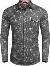 COOFANDY Men's Button Down Long Sleeve Slim Fit Casual Paisley Dress Shirt - 2XL image 3