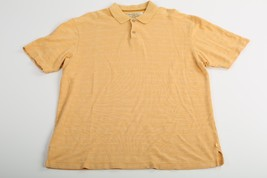 Tommy Bahama Polo Golf Shirt Size Large L Silk Blend Men Yellow Tennis Rugby - $22.85
