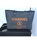 70a2f9246158 Chanel Deauville Shoulder Bag Denim blue chain Handbag NEW -  3