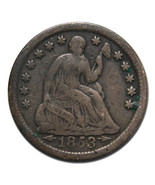 1853O Arrows Silver Seated Half Dime 5¢ Coin Lot# MZ 3190 - $41.03 CAD