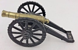 Vintage Penncraft Cannon Cast Iron Brass Miniature War Toy Mt Penn PA TY - $17.95