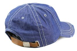 True Religion Men's Vintage Distressed Cotton Horseshoe Trucker Hat Cap TR2095 image 8