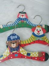 Vintage European Children's Painted Hangers Clowns Bears 3 - $14.36