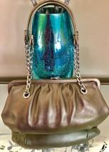 Michael Kors Metallic Gold Pebbled Grain Leather Chain Satchel Shoulder Bag - $65.19