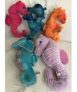 Lot 5 Plush Seahorses Aurora, Fiesta, Adventure Planet, K&M Purple Spark... - $32.66