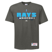 Tampa Bay Rays Shirt Men's MLB Authentic Collection Practice Tee Granite Big