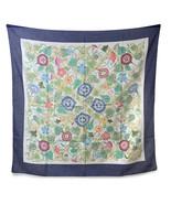 Authentic Gucci Vintage Floral Cotton Scarf Accornero Traliccio Trellis ... - $227.70