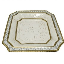 Fitz And Floyd Home Fragrance Plate for Candle or Potpourri Cream Floral... - $15.99