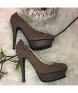 Guess tan suede Chelya platform heels - $36.63