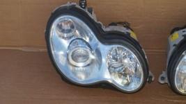 03-07 Mercedes W203 C230 C280 Xenon Headlight Head Light Lamps Set L&R POLISHED image 2
