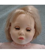 Suzanne Gibson Doll 1977 Vintage Baby Toddler Blonde Hair Green Eyes White - $17.77