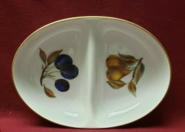 Royal Worcester China - Evesham Gold Pattern - Oval Divided Serving Bowl - $52.95