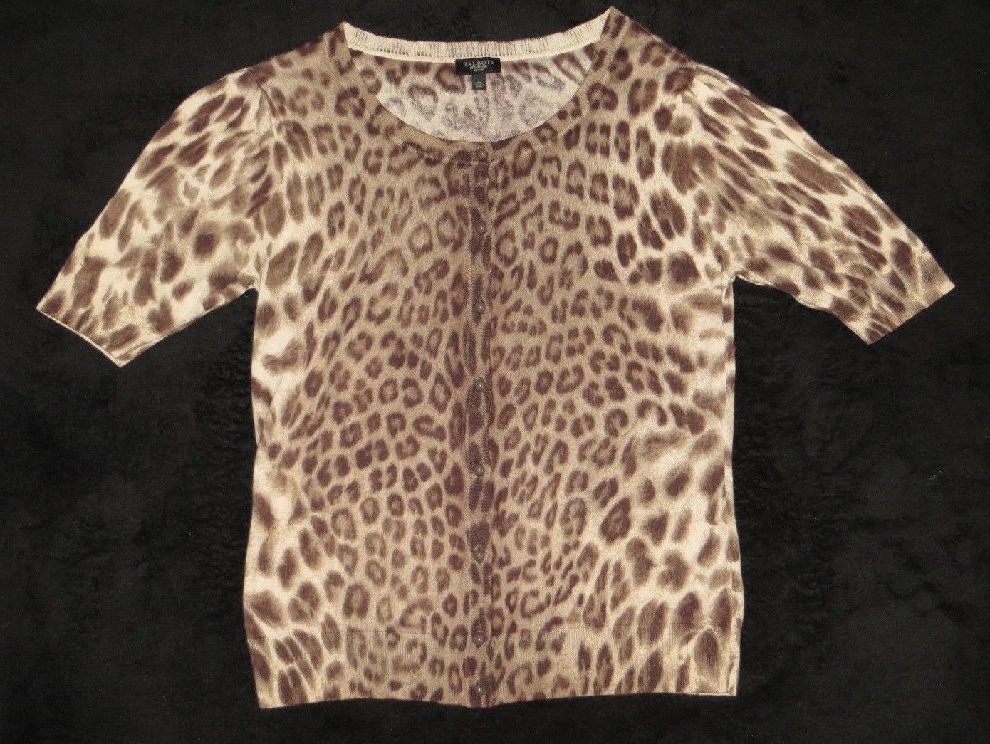 Primary image for Talbots Petites Leopard Sweater Size Medium M
