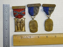 Lot of 3 Chickamauga Battle of Shiloh Military Trail Boy Scout Medal BSA - $49.49