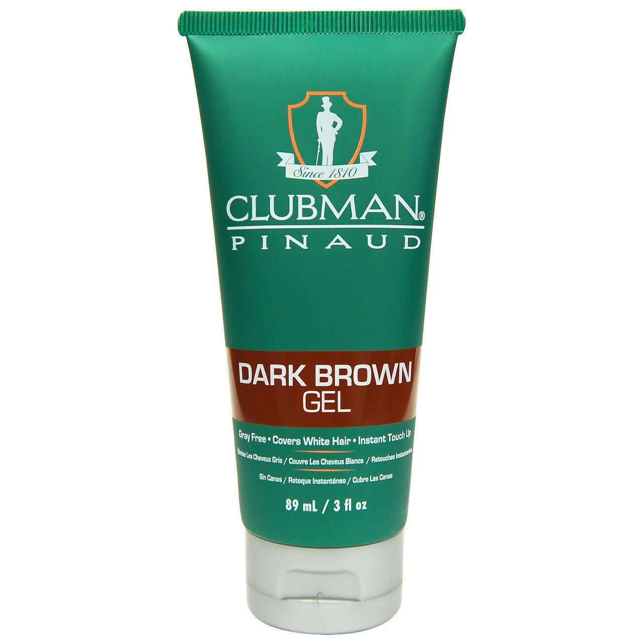 Clubman Pinaud Temporary Color Gel, Dark Brown  3 oz