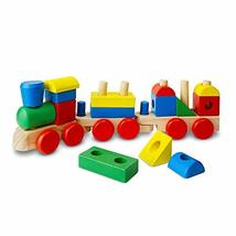 Melissa & Doug Stacking Train (Classic Wooden Toddler Toy, 18 Pieces, Gr... - $14.45