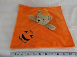 Carters Child of Mine Halloween Bear Rattle Lovey Security Blanket Pumpkin - $10.95