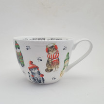 Portobello By Inspire Hello Winter Cats In Hats & Scarves Large Coffee Mug - $18.81