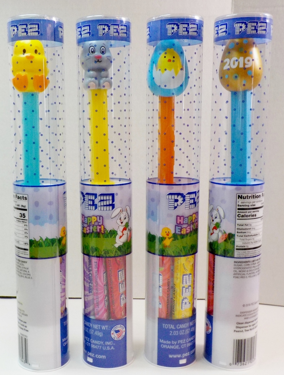 Primary image for Easter 2019 PEZ Golden Egg, Chick, Bunny/Rabbit, Blue Egg exclusive release